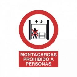 Señal Montacargas prohibido a personas