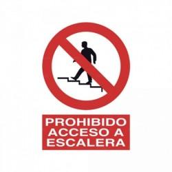 Señal Prohibido acceso a escalera