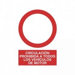 Señal Circulación prohibida a todos los vehículos de motor