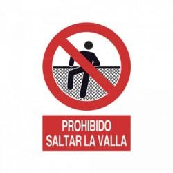 Señal Prohibido saltar la valla