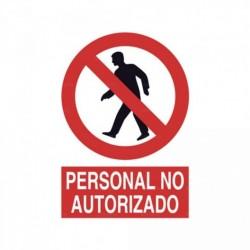Señal Personal no autorizado