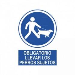 Señal Obligatorio llevar los perros sujetos