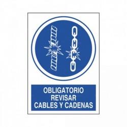 Señal Obligatorio revisar cables y cadenas