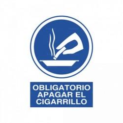 Señal Obligatorio apagar el cigarillo