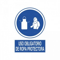 Señal Uso obligatorio de ropa protectora 1