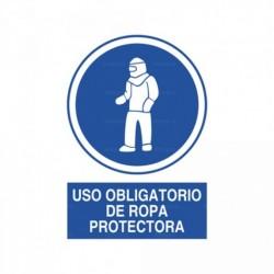 Señal Uso obligatorio de ropa protectora 2