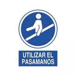 Señal Utilizar el pasamanos 1