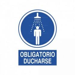 Señal Obligatorio ducharse