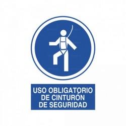 Señal Uso obligatorio de cinturón de seguridad
