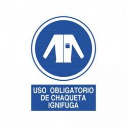 Señal Uso obligatorio de chaqueta ignifuga