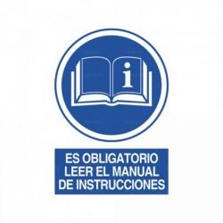 Señal Es obligatorio leer el manual de instrucciones 1