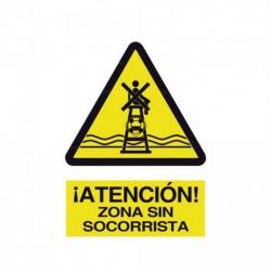 Señal ¡Atención! Zona sin socorrista