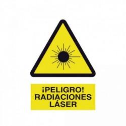 Señal ¡Peligro! Radiaciones láser
