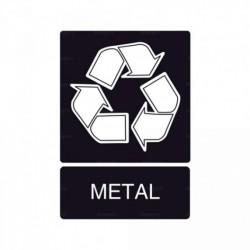 Señal de reciclaje Metal