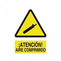 Señal ¡Atención! Aire comprimido