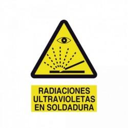 Señal Radiaciones ultravioletas en soldadura