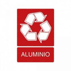 Señal de reciclaje Aluminio