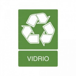 Señal de reciclaje Vidrio