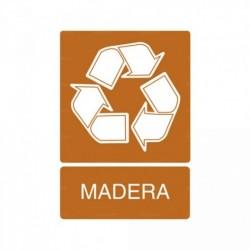 Señal de reciclaje Madera