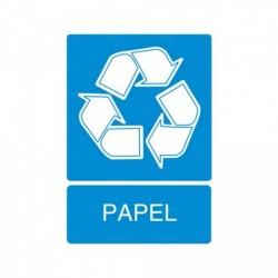 Señal de reciclaje Papel