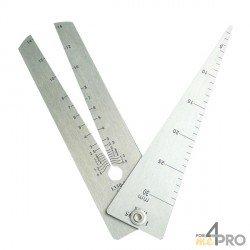 Calibre triangular 13 cm