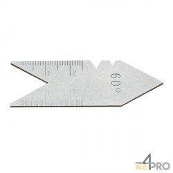 Calibre de rosca de acero 60°