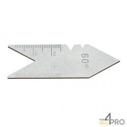 Calibre de rosca de acero 55°
