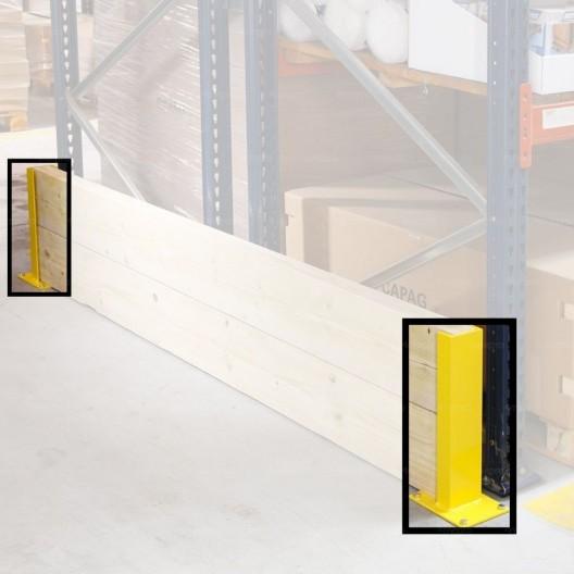 Protège rack pour support madrier - extrémité 2 madriers