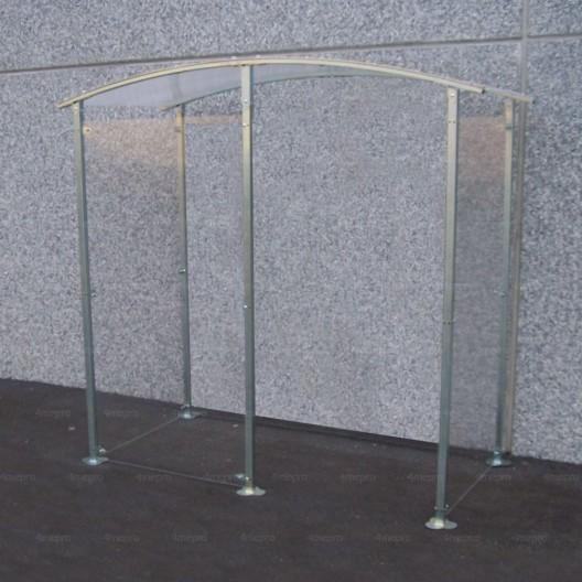 Marquesina para Fumadores contra la pared de metal galvanizado 2m²