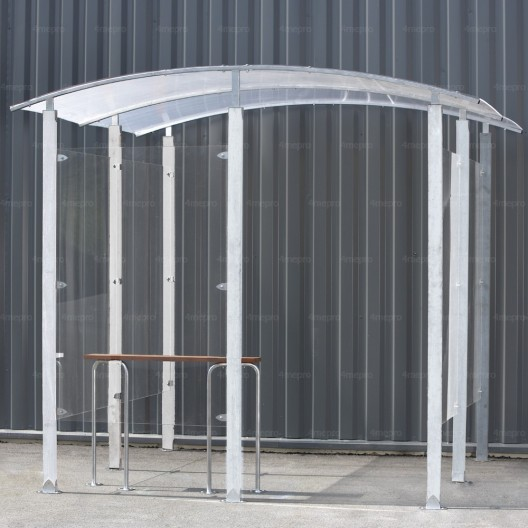 Marquesina para Fumadores de metal galvanizado 4m²