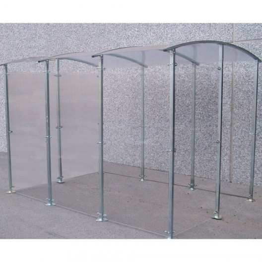 Marquesina para Fumadores de metal galvanizado 6m²