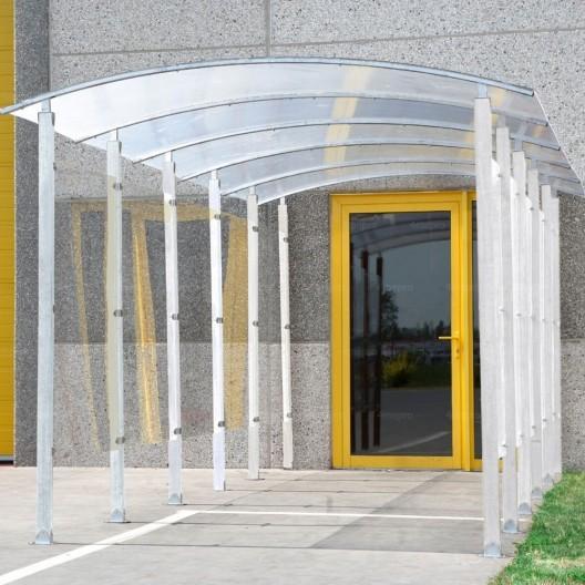 Extensión para Marquesina para Fumadores forma pasillo de metal galvanizado
