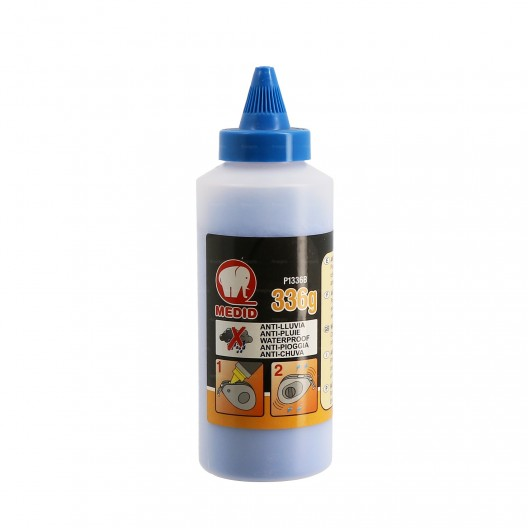 Biberon de poudre anti-pluie bleu