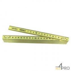 Metro plegable amarillo 10 segmentos - 2m