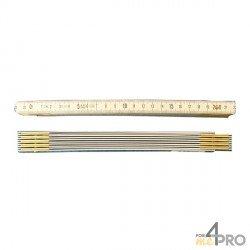 Metro plegable de aluminio resistente 5 segmentos - 1m