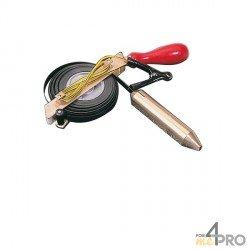 Sonda de medición especial petróleo cinta de acero negra 30m x 13mm
