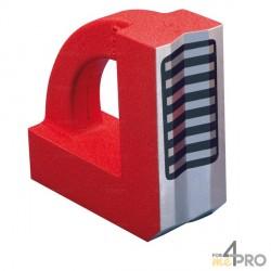"Escuadra magnética en ""V"" para tubo 150x150x60 mm"