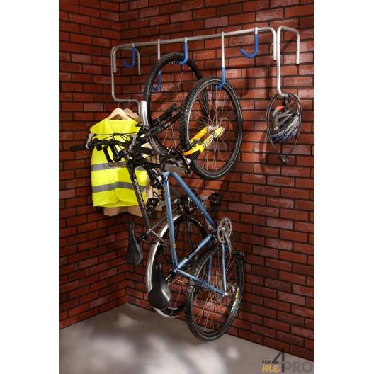 Estante de pared para 5 bicicletas - 130,5 x 34,5 x 58,5 cm