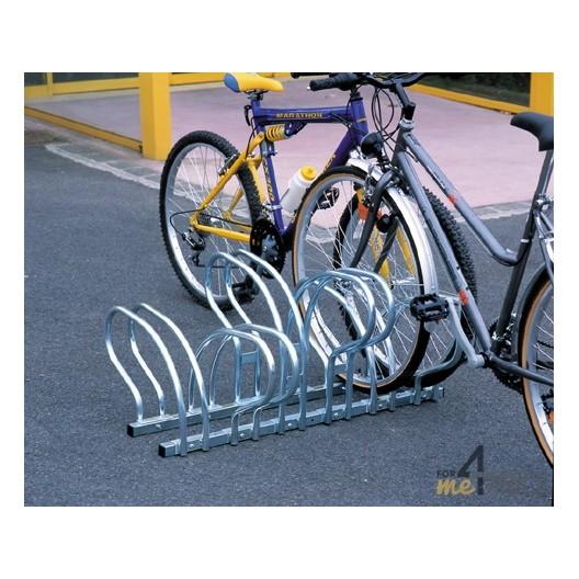 Estante para 6 bicicletas al suelo cara a cara
