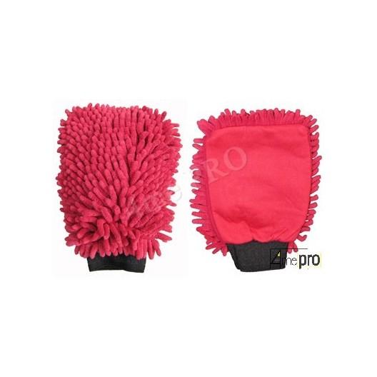 Guante de limpieza Microfibra ''Rasta'' rojo