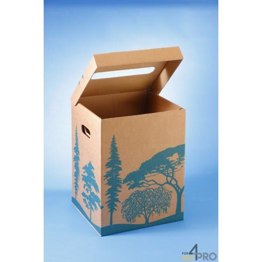 Corbeille à papier en carton