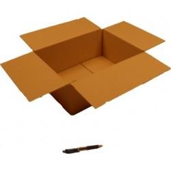 Cartón canal simple 40 x 30 x 16 cm