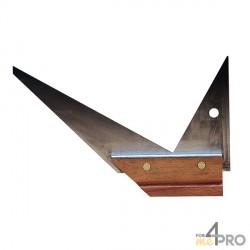 Escuadra de carpintero de doble inglete 25 cm