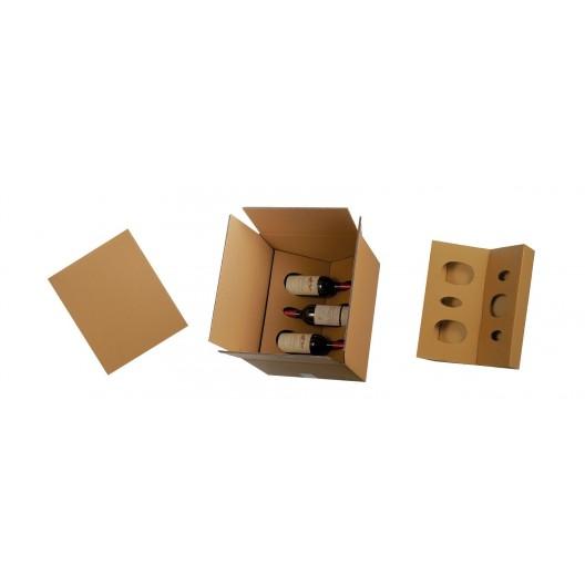 Caja de cartón para botellas