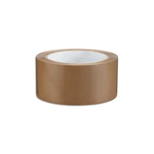 Cinta adhesiva polipropileno con solvante marrón 5cm x 100 m