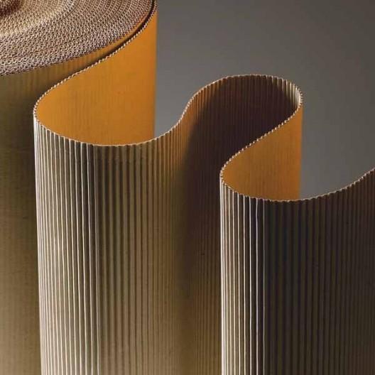 Cartón ondulado de 80 cm de ancho en rollo