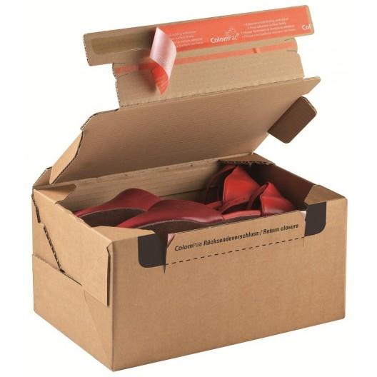 Caja postal con banda adhesiva para la devolución 38,4 X 29 X 19 cm
