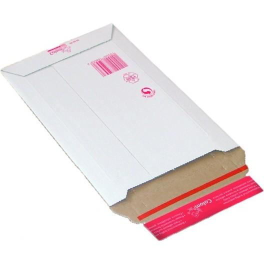 Sobre de cartón blanco A4 23,5 x 34 cm