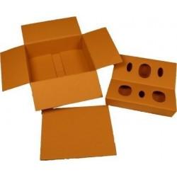 Caja de cartón de 3 botellas