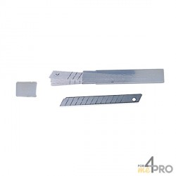 Hoja de reuesto para cúter 9 mm divisible